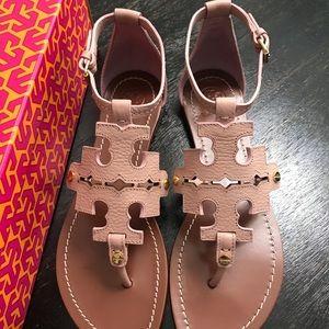 Tory Burch Shoes - {Tory Burch} Phoebe Pink Quartz Flat Thong Sandals